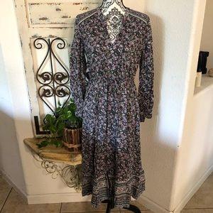 Lucky brand boho prairie dress floral print